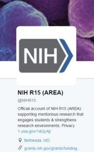 NIH AREA R15 twitter